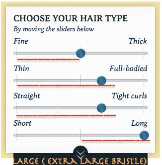 エクストララージブリッスル 髪質タイプ